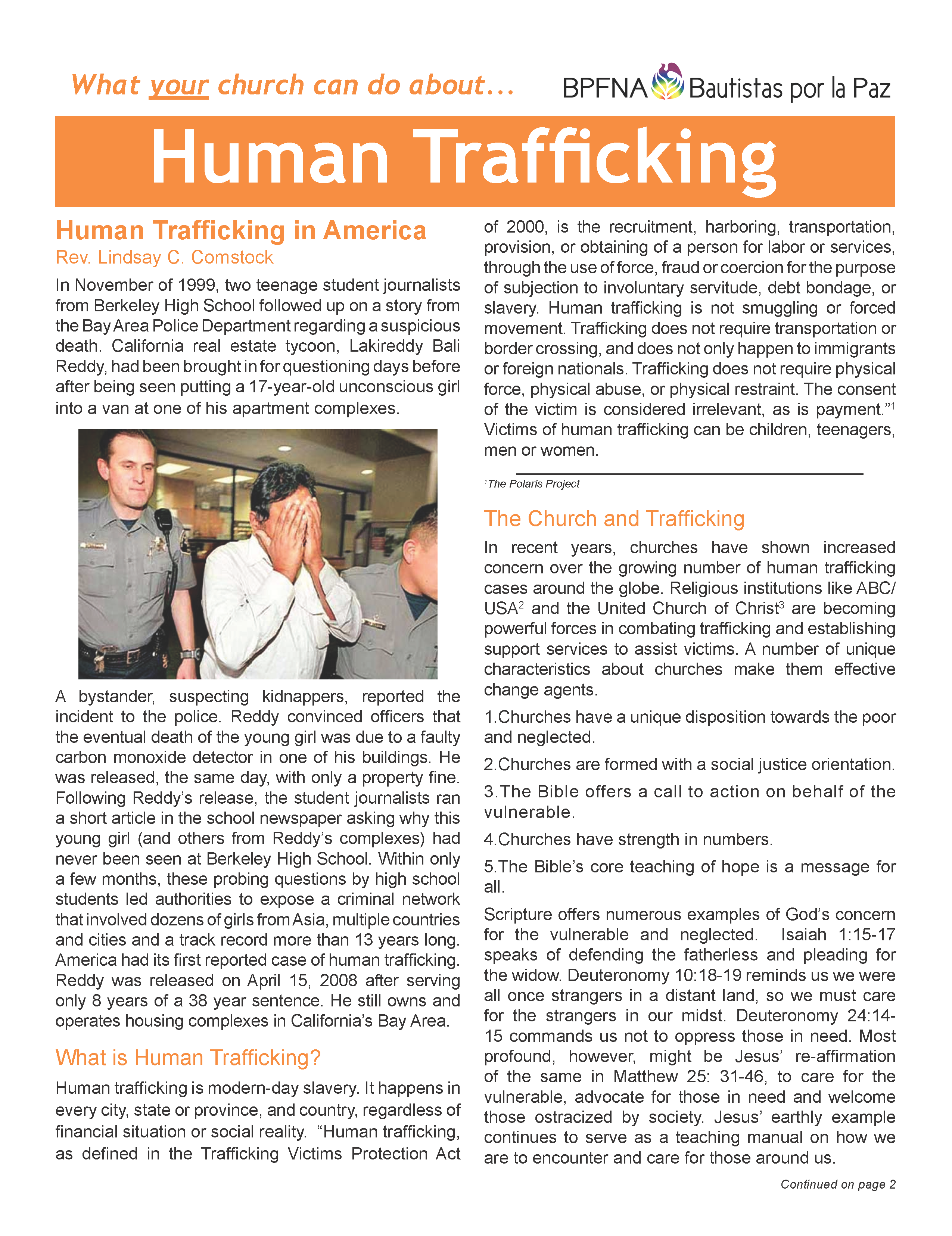 Thumbnail of What Your Church Can Do About... Human Trafficking