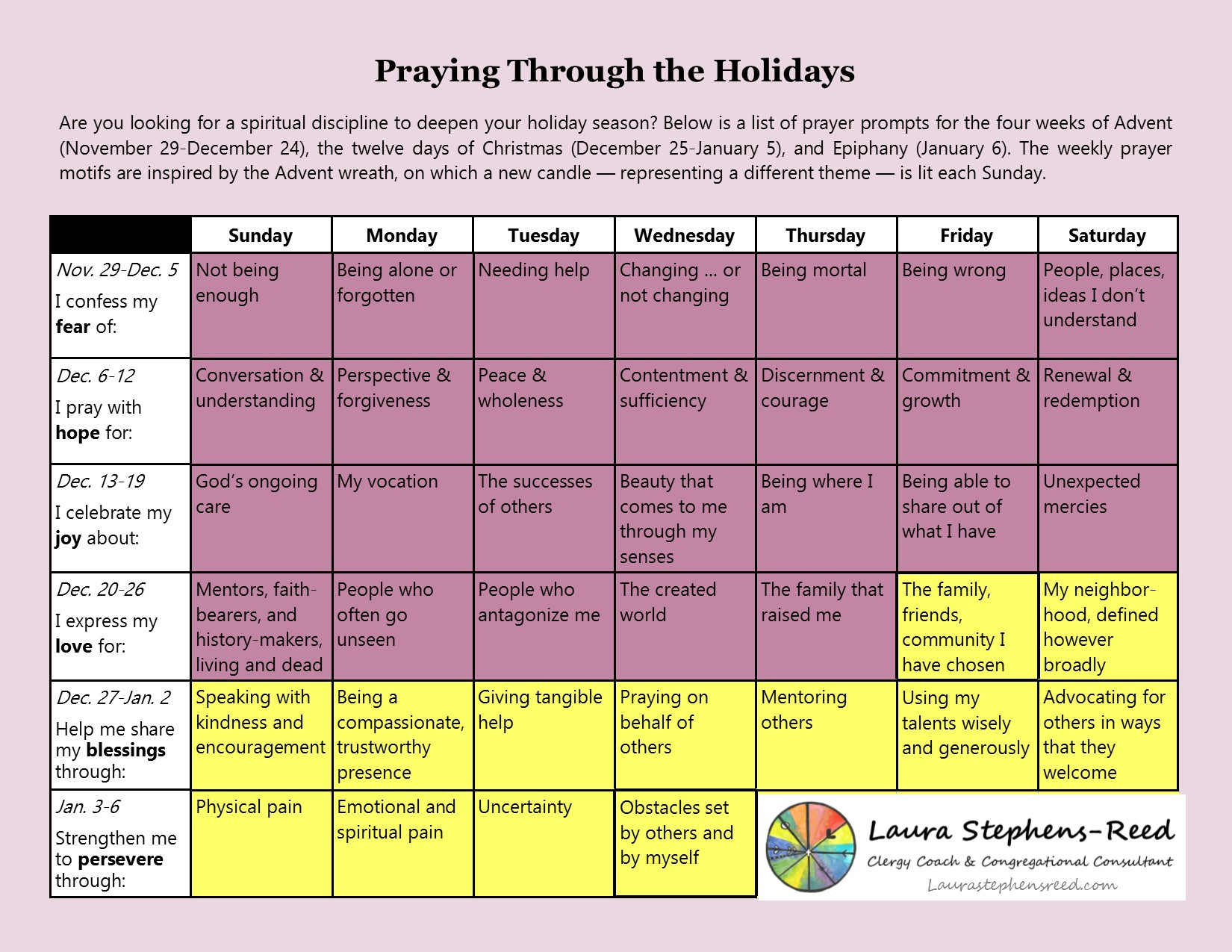 Thumbnail of Advent Prayer Calendar