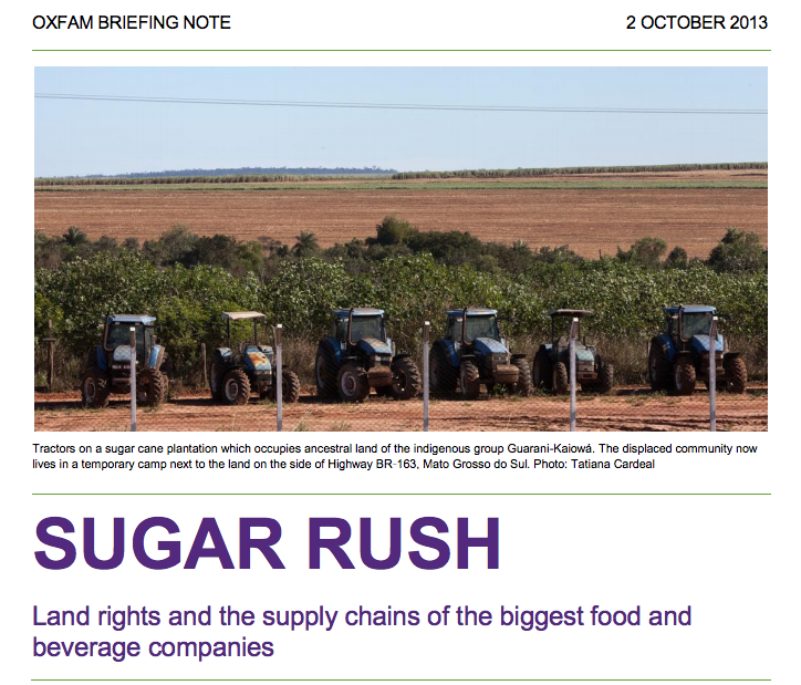 Thumbnail of Sugar Rush: Land rights and the supply chains of the biggest food and beverage companies